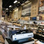 Bakery section including a bread loaf slicer