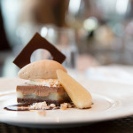 Pear Chocolate Gateau - chocolate mousse, poached pear, hazelnut gelato