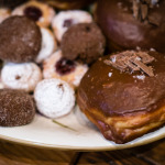 Bombolini with salted caramel, biscotti