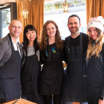 The winning team including Karen Kwan and Sabrina Maddeaux with Samsung and Craig Harding (Campagnolo)