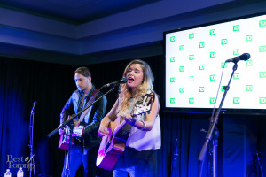 Emily Reid performing at the TD Music Lounge