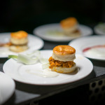 Buffalo chicken with chicharron in black pepper biscuit | Omni King Edward Hotel