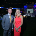 The evening hosts, Sportsnet's Jamie Campbell and Evanka Osmak