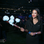 Cotton candy on a baseball bat