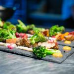 Veg slate - squash, broccoli, sunchokes, cauliflower baba ganoush, beet chips | Rasa