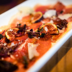 Prosciutto d'anatra | Cured duck breast with fresh figs, onion jam, truffled honey and pecorino romano
