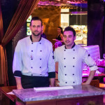 L: Chef de cuisine Evan Dickinson R: Chef Enrico Dal Sasso