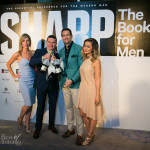 Alison Slight, John McGouran (President, Publisher and Co-owner, Sharp Magazine) and Michael LaFave (Creative Director and Co-owner, Sharp Magazine), Candice Chan