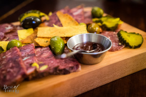 Newfoundland game charcuterie board with traditional accompaniments