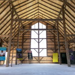 Inside the brand new barn at Burl's Creek