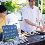 Boralia's Cornmeal fritters, oyster mayo, white fish caviar