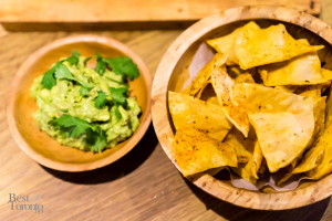 BBQ dusted chips and guac