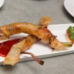 Shrimp Bonbon with citrus salad and red pepper gastrique
