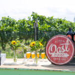 A welcoming outdoor picnic lunch setup at Oast House Brewers