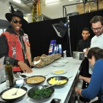 Kardinal Offishall enjoying Barilla pasta