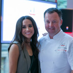 Celebrity Meaghan Markle (Suits) with David Hawksworth | Photo: Nick Lee